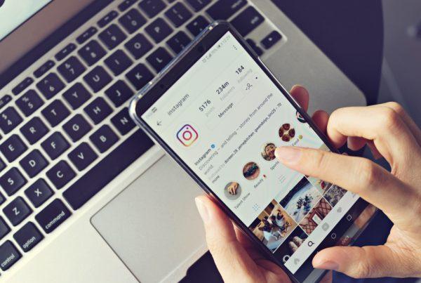 scrolling on Instagram business platform