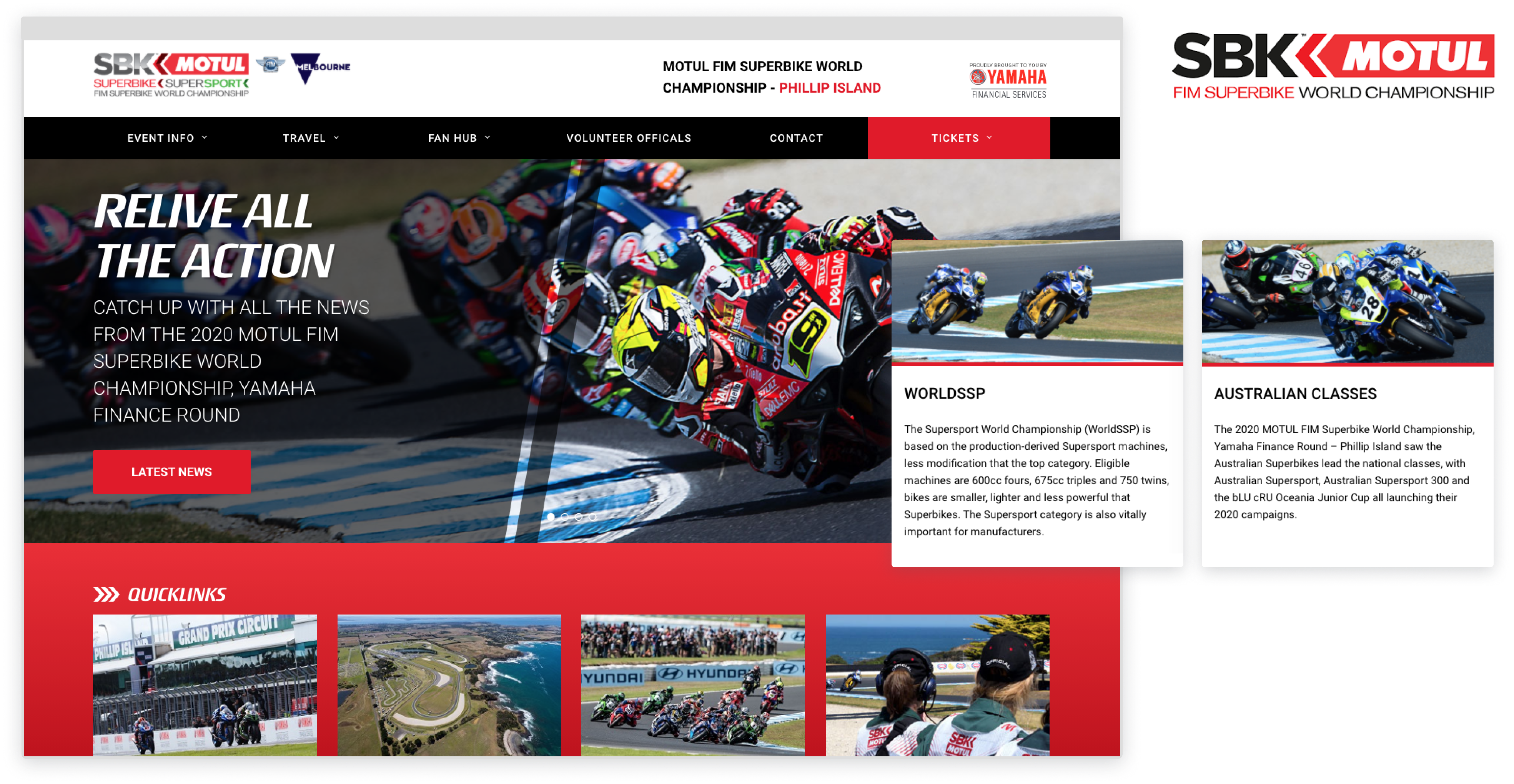 Phillip Island website pages