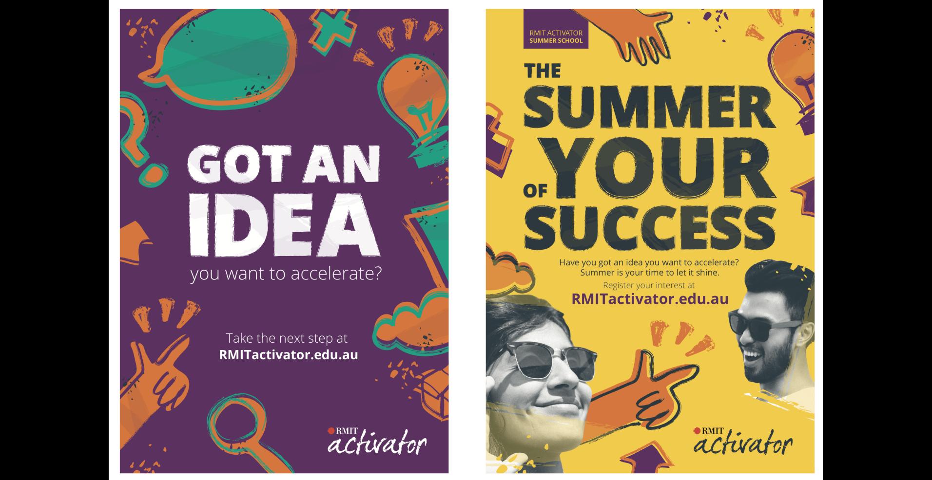 RMIT activator posters