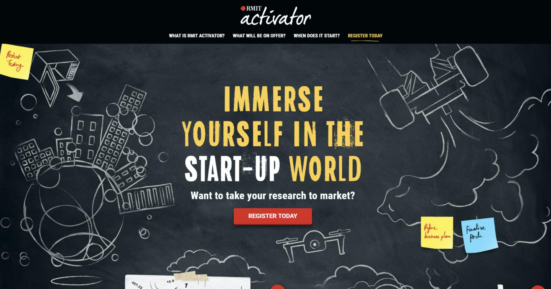 RMIT activator homepage